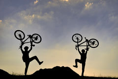 Bike adventure Royalty Free Stock Image