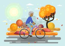 Bike with African woman Stock Photos