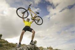 Bike on air Stock Photo