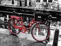 Bike in Amsterdam. Red bike in Amsterdam (Netherlands Royalty Free Stock Photo