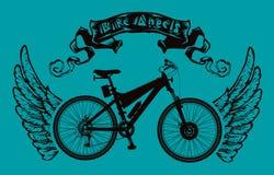 Bike Angels poster Stock Photo