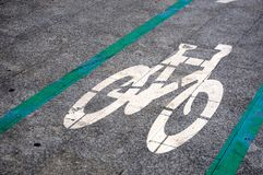 Bike area circulation transport road Royalty Free Stock Photography