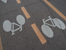 Bike on asphalt Royalty Free Stock Image