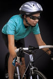 Bike athlete cycling Royalty Free Stock Images