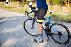 Bike and athlete Royalty Free Stock Photos