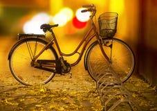 Bike on autumn evening Royalty Free Stock Photos