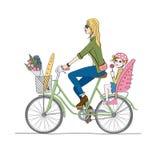 Bike_baby 免版税库存照片