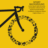 Bike background. Wheel of the sports icons. Vector abstract background, template for web design, mobile applications, press Royalty Free Stock Photography