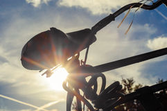 Bike in the backlight Stock Photography