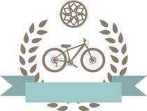 Bike badge Royalty Free Stock Photography