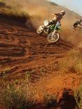 Bike bash. Motorbikes in the desert Royalty Free Stock Images