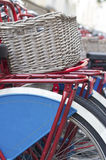 Bike with basket Stock Photos