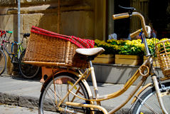 Bike with Basket Stock Photography