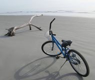 Bike on the beach Royalty Free Stock Image