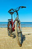 Bike on the beach. Royalty Free Stock Photography