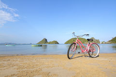 Bike at the beach Royalty Free Stock Image