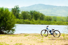 Bike at beach. Royalty Free Stock Photography
