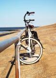Bike on the beach (2) Stock Image