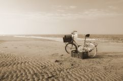 Bike on the beach Royalty Free Stock Photography