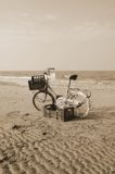 Bike on the beach Royalty Free Stock Images