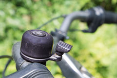 Bike bell. Bicycle bell on a bike Royalty Free Stock Photography