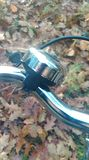 Bike bell. Shiny bike bell Stock Photo