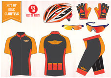 Bike or Bicycle clothing illustration, easy to modify Stock Photography