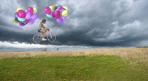 Free Bike, Bicycle, Fun, Imagination, Balloons Stock Image - 174259981