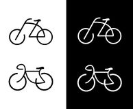 Bike, bicycle - icon. Bike -  icon. Isolated design element. Sign. Can be used as logotype Royalty Free Stock Photos
