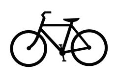 Bike or bicycle illustration isolated Royalty Free Stock Photography