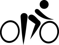 Bike Bicycle Pictogram. Abstract style Stock Image
