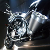 Bike with big exhaust pipe. Stock Photography