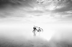 The bike. The biki in the Beach at Gili Trawangan island Stock Image