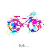 Bike with blots Royalty Free Stock Photography