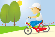 Bike boy Royalty Free Stock Images