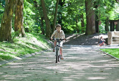 Bike boy Stock Photo