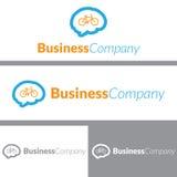 Bike Brain Logo Design Stock Photos