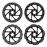 Bike brake disc black silhouette Royalty Free Stock Photos
