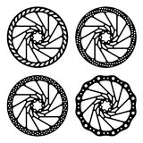 Bike brake disc black silhouette Royalty Free Stock Photo
