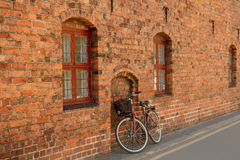 Bike at a brick wal Royalty Free Stock Images