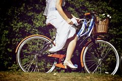 Bike Bride Royalty Free Stock Photos