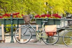 Bike on a bridge Royalty Free Stock Photography
