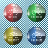 Bike button,icon, sign, 3D illustration Royalty Free Stock Images