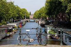 Bike and Canal Royalty Free Stock Photos