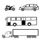 Bike car bus truck Royalty Free Stock Photography