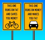 Bike and car Stock Photo