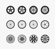Bike car and wooden wheels Stock Images