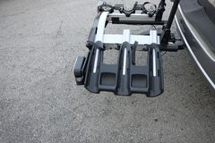 Bike carrier for car royalty free stock photo