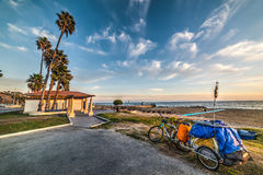 Bike cart by the sea in Malibu Royalty Free Stock Photo