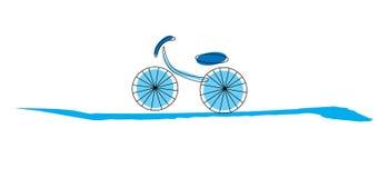 Bike cartoon. Blue bike cartoon on white background Royalty Free Stock Photography